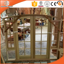 Arched Top Casement Window Solid Wood window with Grille
