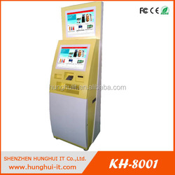 Automatic kiosk payment machine with cash dispenser
