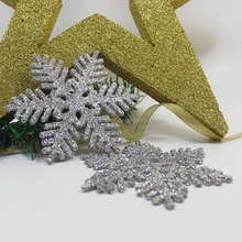 2016 cheap welcomed high quality most popular foam silver snowflakes