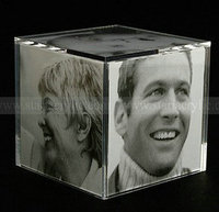 5 Sided Lucite Photo Frames, Perspex Picture Holders,Acrylic Photo Cube Picture Block