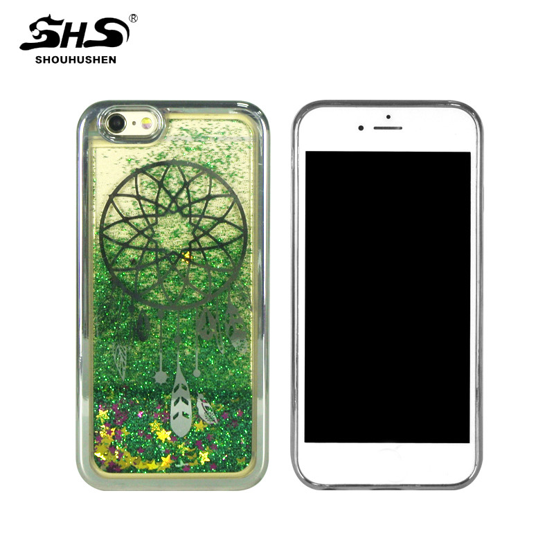 SHS Fashinable shining Flowing Quicksand TPU Cell Phone Case for iPhone 7