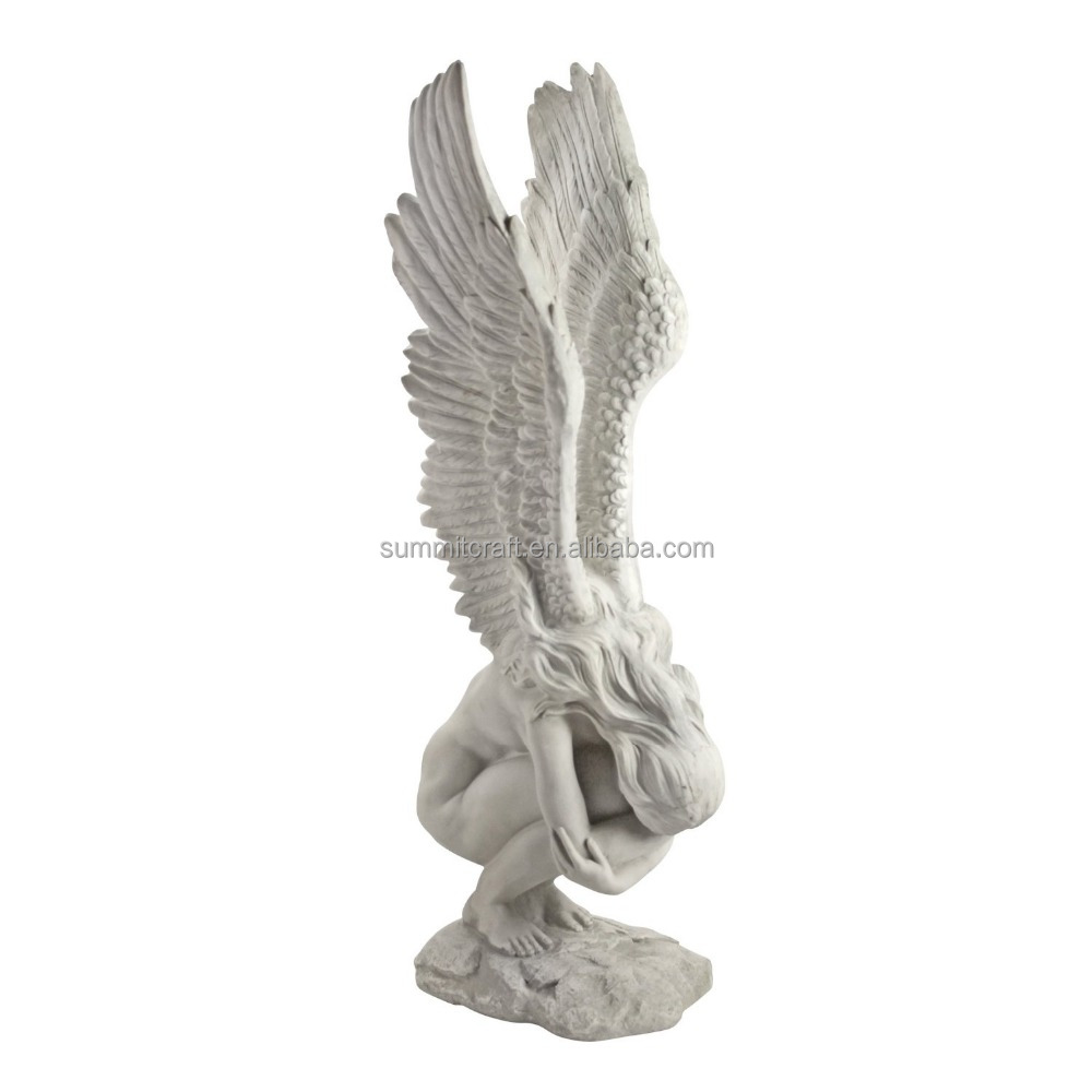 "15""Decorative resin life size angel statues"