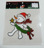 flying snowgirl stciker/christmas santa sticker/household decorations