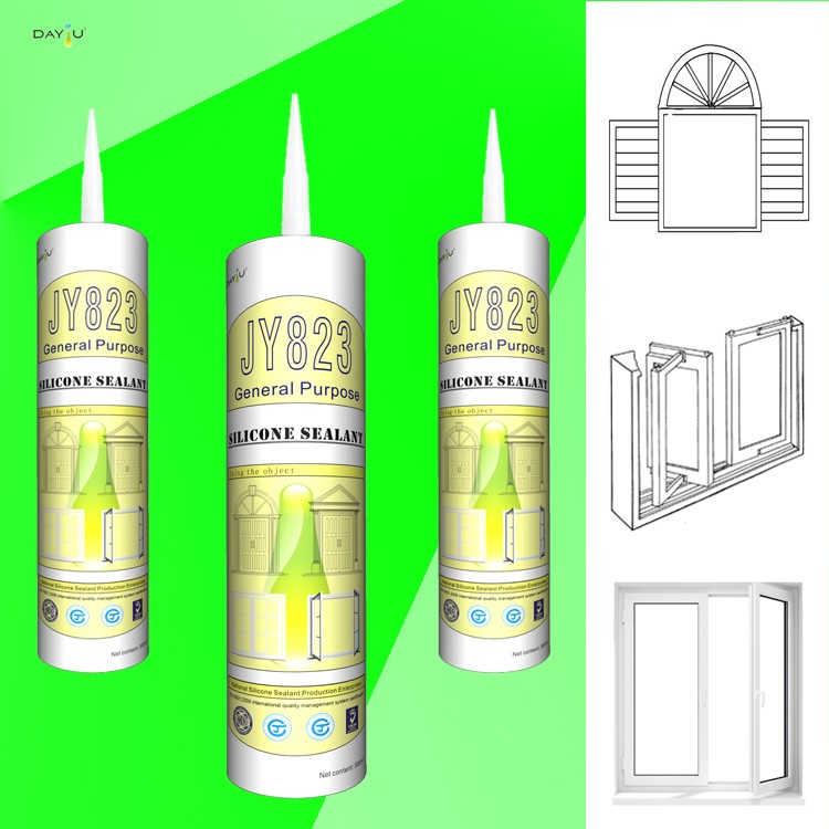 JY823 high temperature silicone sealant adhesive glue for glass conductive silicone