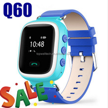 2017 promotion products Kid Safe GPS Q60 smart watch with heart rate monitor SOS Call Location Finder Locator Tracker