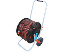 high adaptability self retracting cable hose reel for gargen watering