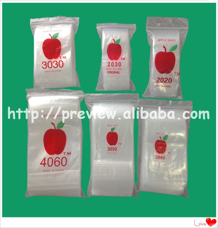 MICRO TINY 3838 Apple Brand Quality 2.5 Mil Clear Ziplock Bags Baggies 3/8""