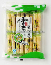 baked snacks 150g crispy egg roll wafer green apple filling