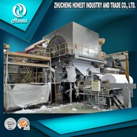 400 mpm Waste Paper Toilet Tissue Paper Production Line Making Machine Price, Recycled Paper UsingTissue Machinery For Sale