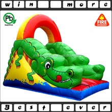 5m tall inflatable cartoon croc slide,small indoor inflatable slide,china inflatable slide