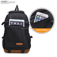 High Density 600D polyester school backpack with zipper porkets Backpack teenage
