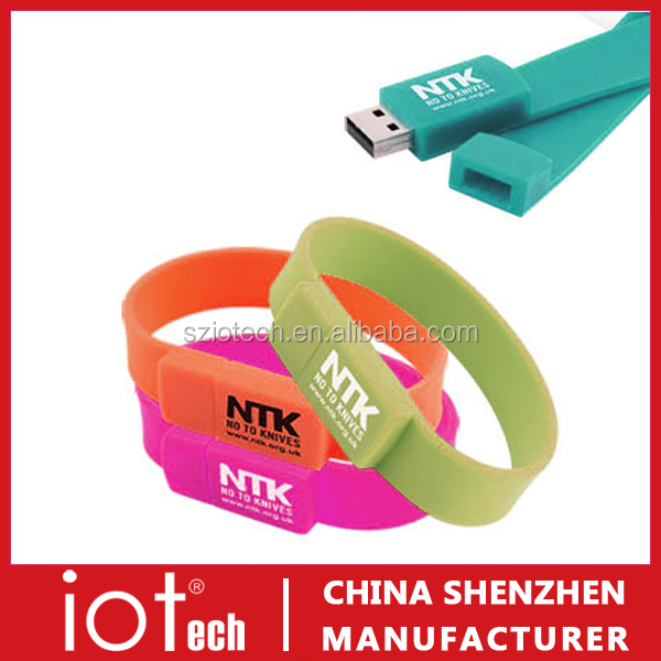 Cheap Novelty Bracelet USB Thumb Drive Promotional Gift