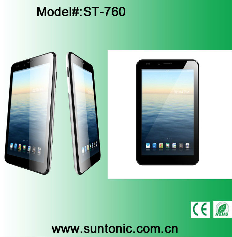 New 7 inch Dual Core Tablet PC with IPS screen 1GB DDRIII 8GB MTK6577 +3G+GPS