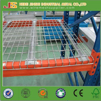 wire mesh rack decking/wire deck panel on selective pallet rack for supermarket