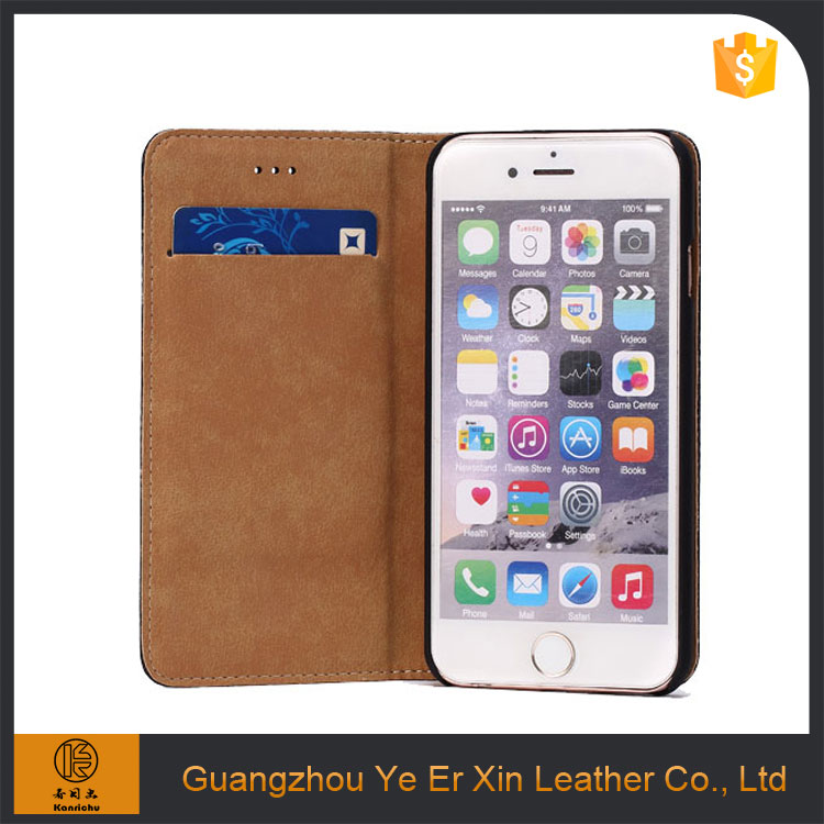Guangzhou supplier cheap price phone cover for iphone 6 6s 7 7plus leather wallet case