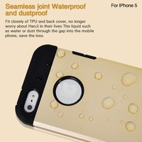 Factory wholesale waterproof silm 2 in 1 mobile phone case for iphone 5 5s