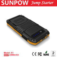 SUNPOW emergency car snap on battery jump starter 12v power bank auto accessories booster cables