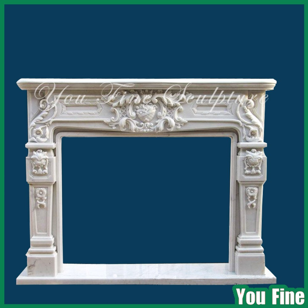 Decorative Carved Natural Italian Fireplace Mantel