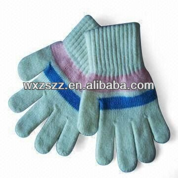 Lint Winter Cotton skin color neon gloves knitted hot sale