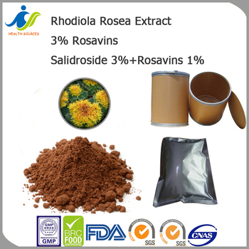 Rhodiola Rosea extract with high rosavin, rosarin, and rosin