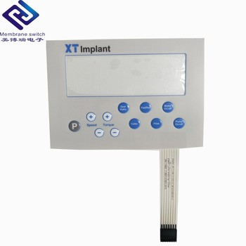 custom high difficult printing 4 color touch membrane switch for fuel quality sensor