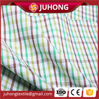 100% cotton checked material for school uniform fabric