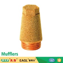 JULY Factory Direct Sale Pneumatic Muffler With Steel Copper Plated Nipple Air Muffler