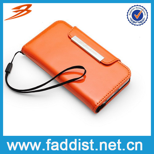 China Wholesale wallet Card Holder Mobile phone case for apple iphone 5