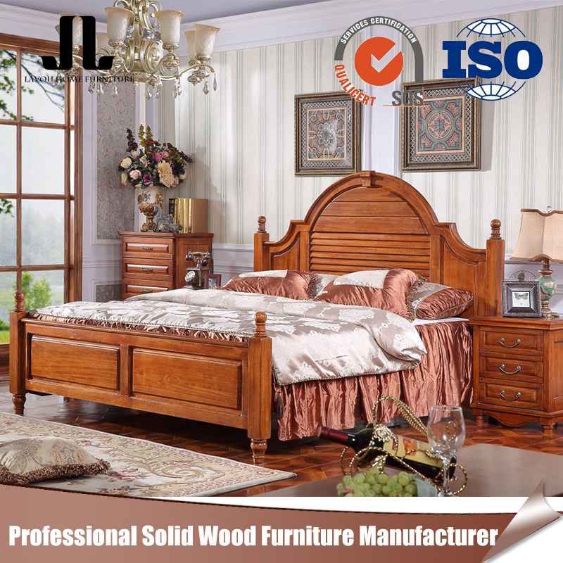 China manufacturer unique adult bedroom furniture solid wood latest 1.8m bed