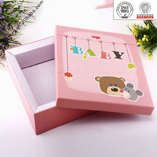 Colorful printed carton box packaging for baby cloth wholesale