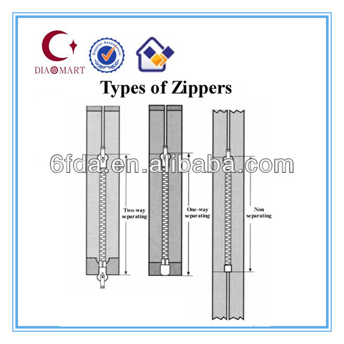 Latest durable silver lock end metal zipper