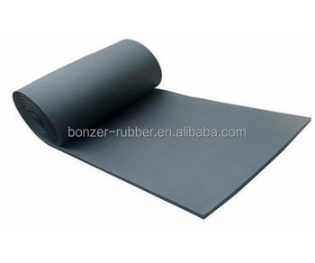 Black industrial textured neoprene rubber sheet roll manufacture