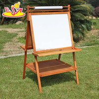 2017 wholesale kids wooden double sided ease portable children wooden double sided easel best wood double sided easel W12B104