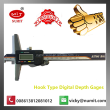 "0-150mm/0-6"" x0.001mm Stainless Steel LCD Display Digital Depth Vernier caliper Hook Type Digital Depth Gages"