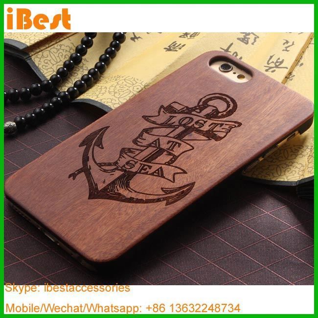 iBest alibaba wholesale custom engraved real wood mobile phone case for iphone,for i phone 6 case