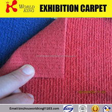 Colourful ribbed carpet use for fair and wedding