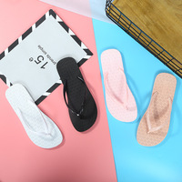 Hot style pure color simple women's shoes home slippers stylish cold slippers women bathroom anti-skid flip-flops