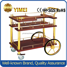 Mobile Food Cart Design/Deluxe Wooden Liquor Delivery Trolley