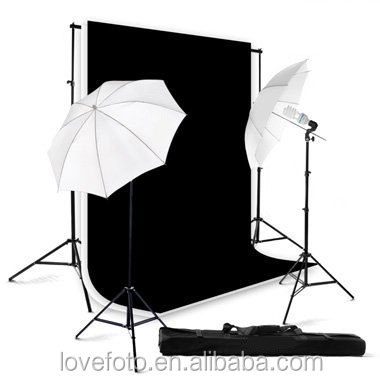 3*6M Backdrop Background Stand Musilin Lighting Kit With 2PCS Transparent Softbox Umbrella