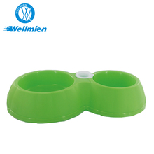 Portable Double And Large Capacity Colorful Design Pet Dog Bowl