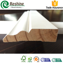 Finger Joint decorative pine wood skirting board