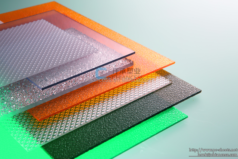 Colored Plastic Shutter Board Polycarbonate Solid Emobossed Pc Sheet ...