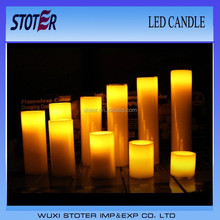 luminara LED paraffin wax Candle lights, flashing led candle with battery