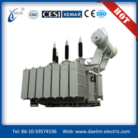 Pretty outline and compact structure 115kv oil immersed double winding power transformers