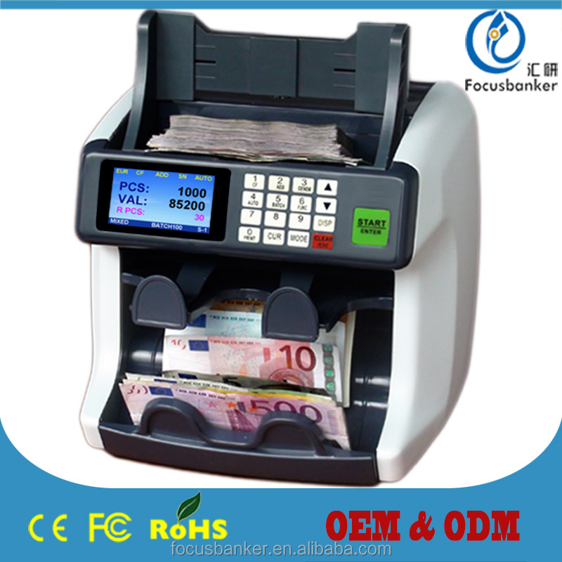 1+1 pocket currency sorter money counter fake note detector cash counting&sorting machine bill sorter