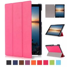 PREMIUM RED 3 FOLDING PU LEATHER CASE FOR MICROSOFT SURFACE PRO 4 SMART STAND COVER