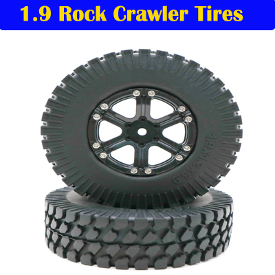 2pcs 1.9inch RC Crawler Rubber Wheels Tyres Tires 108mm for HSP 1/10 RC Rock Crawler(210165)