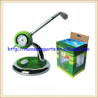 golf pen set Pens Holder with Ballpoint Pens with alarm clock