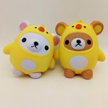 New Kids Cute Squishies Animal Kawaii Bear Chicken Slow Rising Squishy Toys Pendant Phone