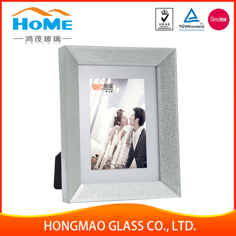 2017 hot style portable square glass picture photo frame